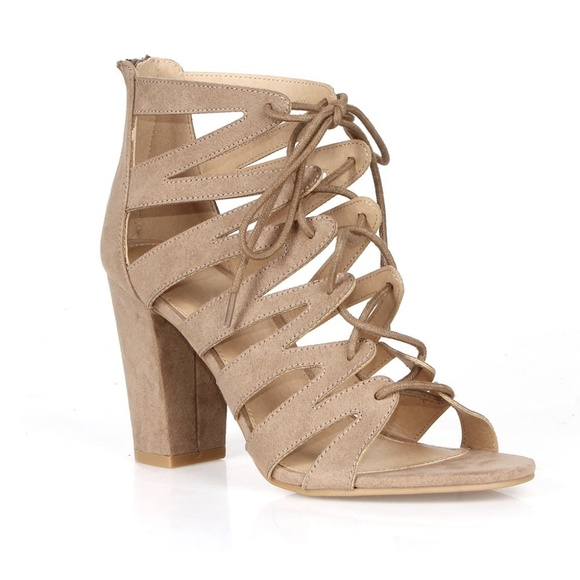 46753ecf7 Charlotte Russe Shoes | Kristin Lace Up Womens Caged High Heel ...